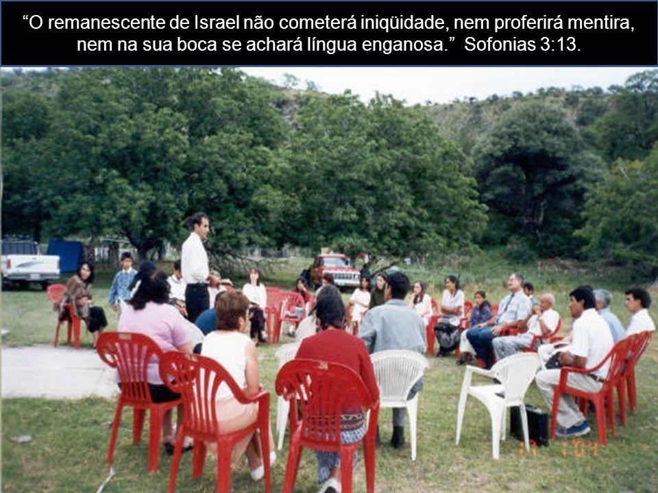 O remanescente de Israel não cometerá iniqüidade, nem proferirá mentira, nem na sua boca se achará língua enganosa. Sofonias 3:13.