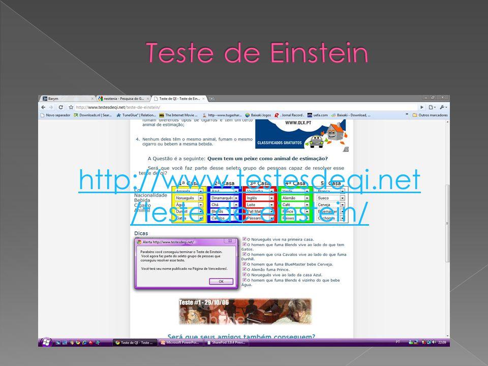 Teste de Einstein http://www.testesdeqi.net/teste-de-einstein/