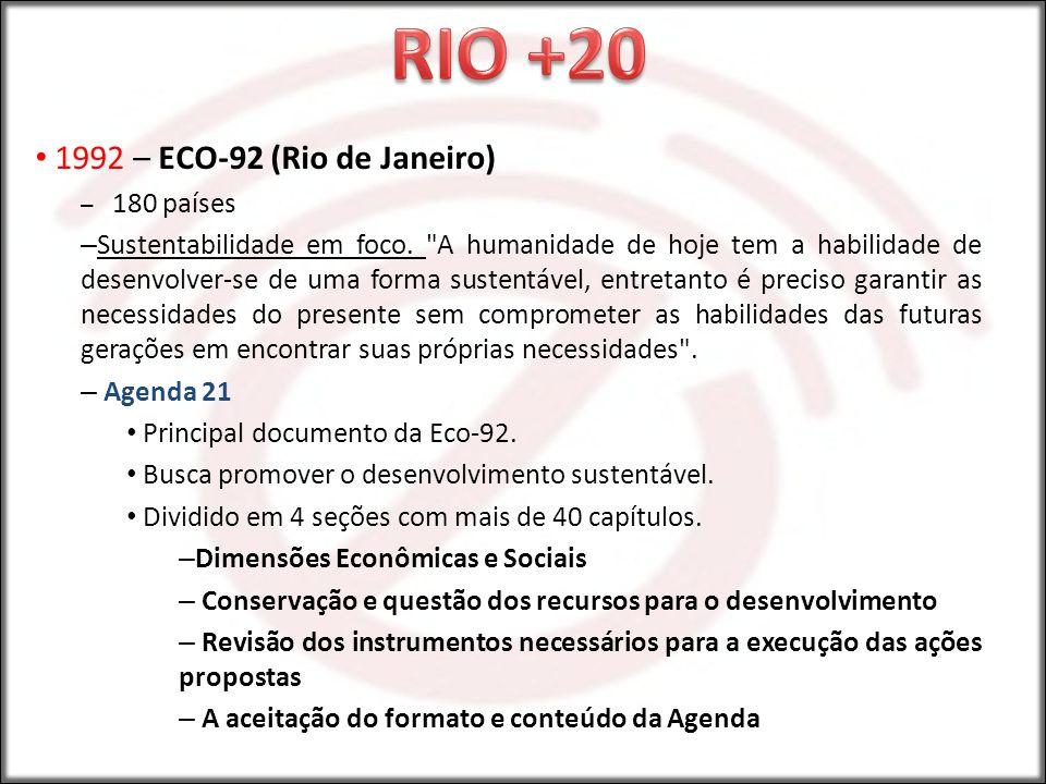 RIO +20 1992 – ECO-92 (Rio de Janeiro)