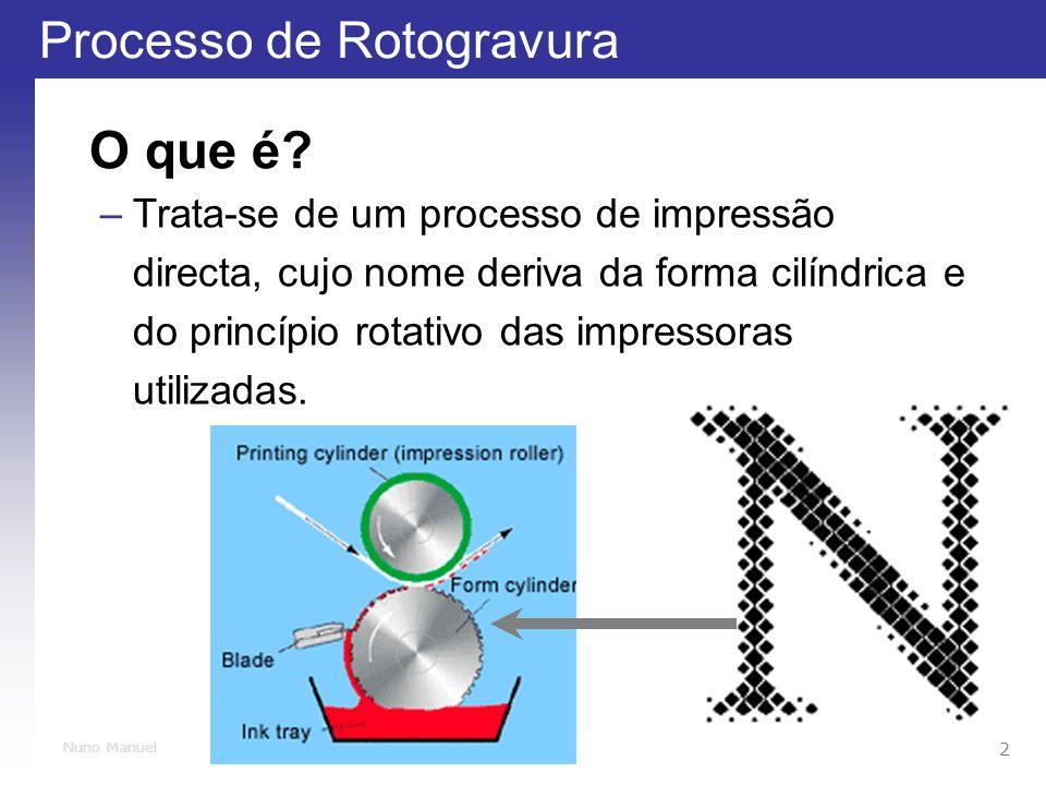 O que é Trata-se de um processo de impressão directa, cujo nome deriva da forma cilíndrica e do princípio rotativo das impressoras utilizadas.