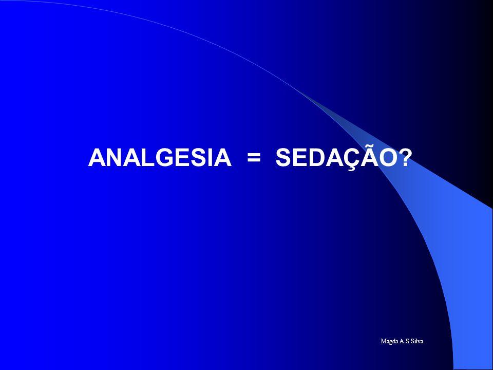 ANALGESIA = SEDAÇÃO Magda A S Silva