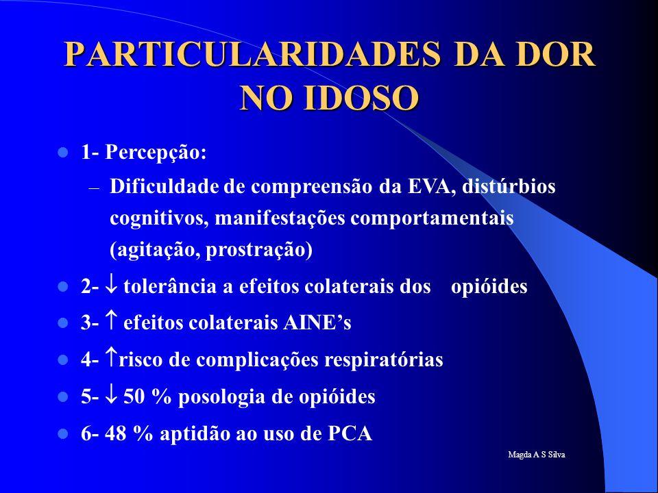 PARTICULARIDADES DA DOR NO IDOSO