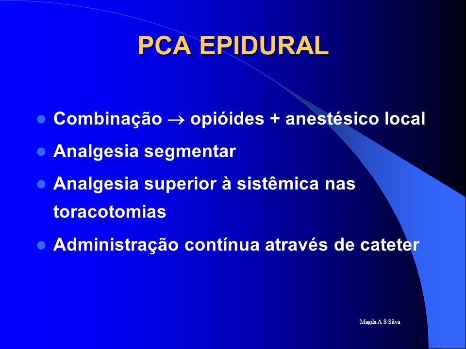 PCA EPIDURAL Combinação  opióides + anestésico local