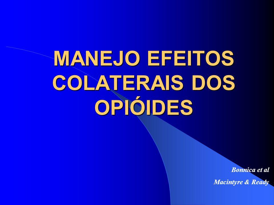 MANEJO EFEITOS COLATERAIS DOS OPIÓIDES
