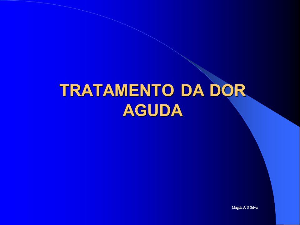 TRATAMENTO DA DOR AGUDA