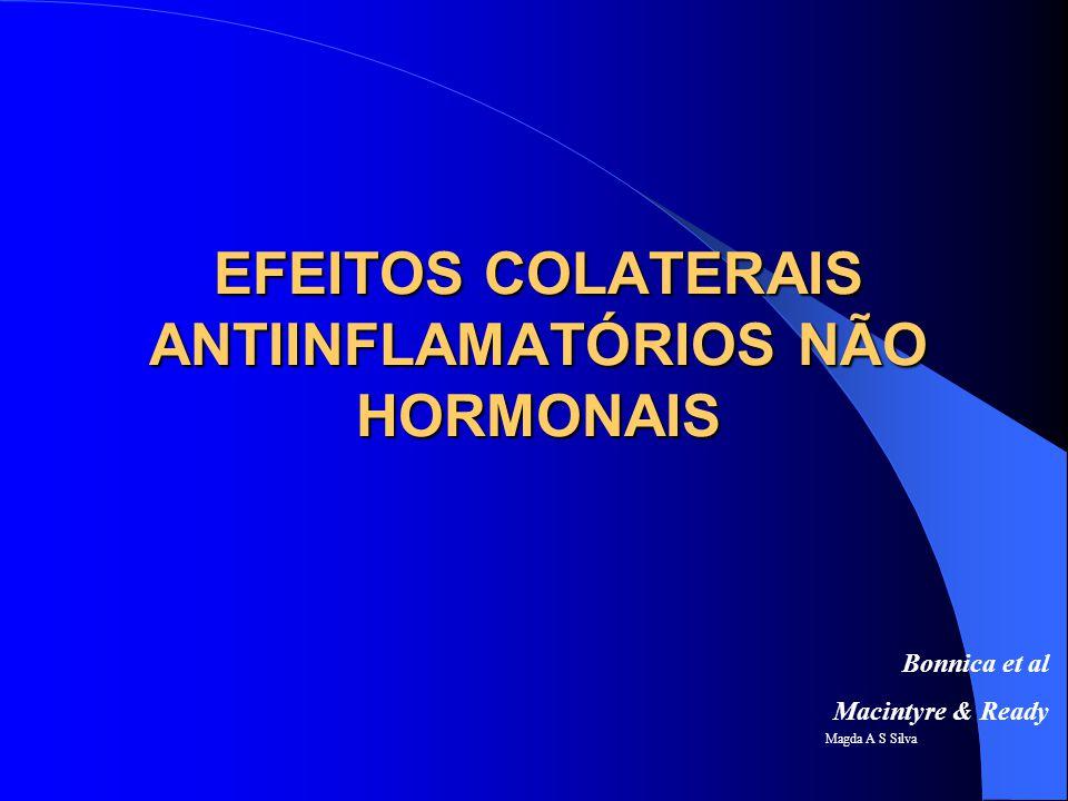 EFEITOS COLATERAIS ANTIINFLAMATÓRIOS NÃO HORMONAIS