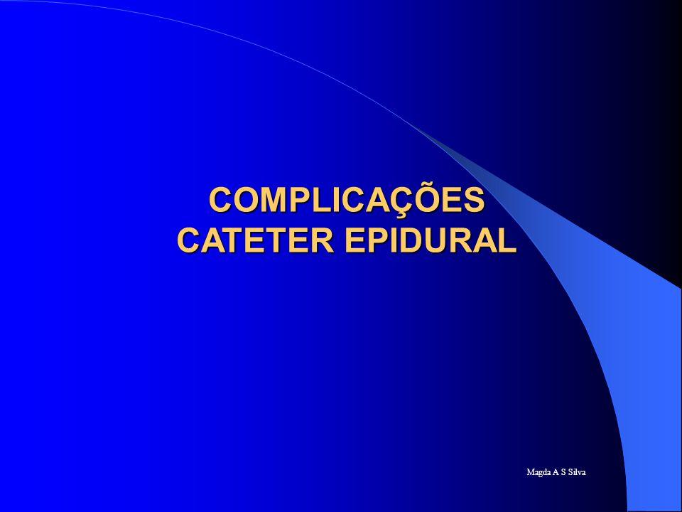 COMPLICAÇÕES CATETER EPIDURAL