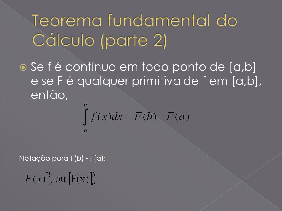 Teorema fundamental do Cálculo (parte 2)