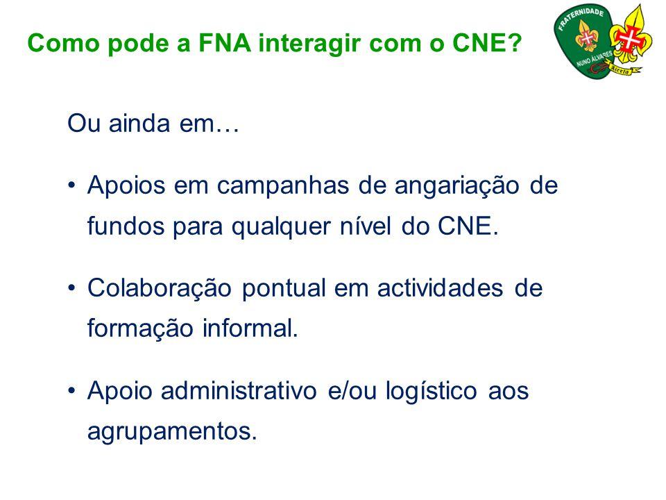 Como pode a FNA interagir com o CNE