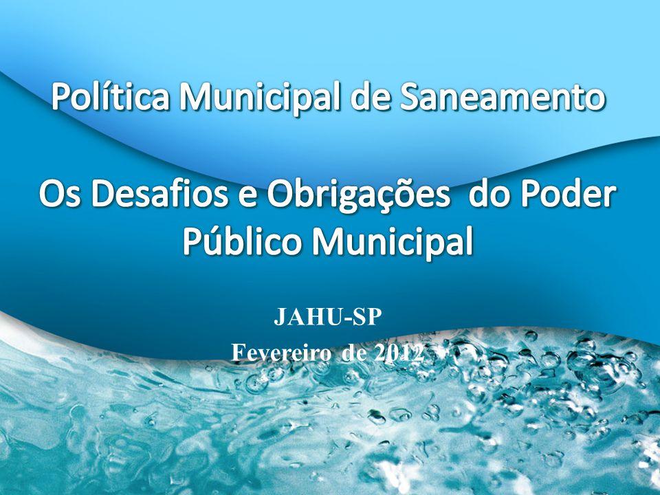 Política Municipal de Saneamento