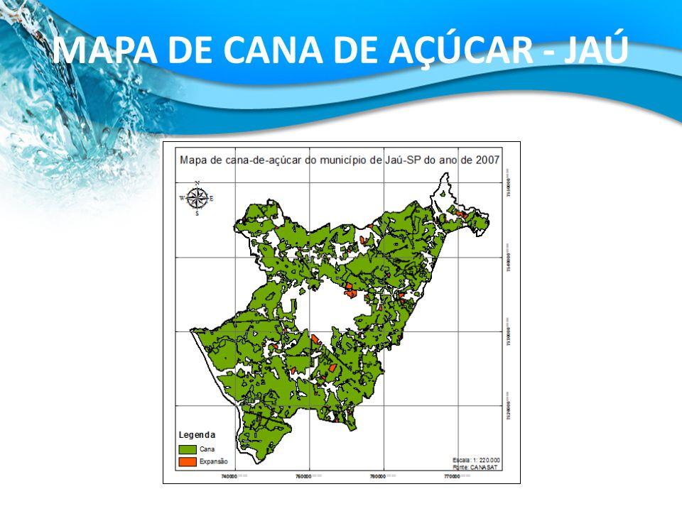 MAPA DE CANA DE AÇÚCAR - JAÚ