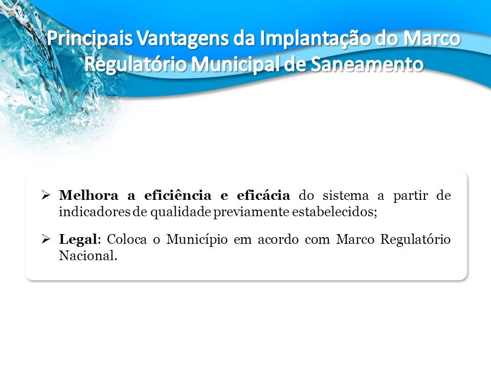 Principais Vantagens da Implantação do Marco Regulatório Municipal de Saneamento