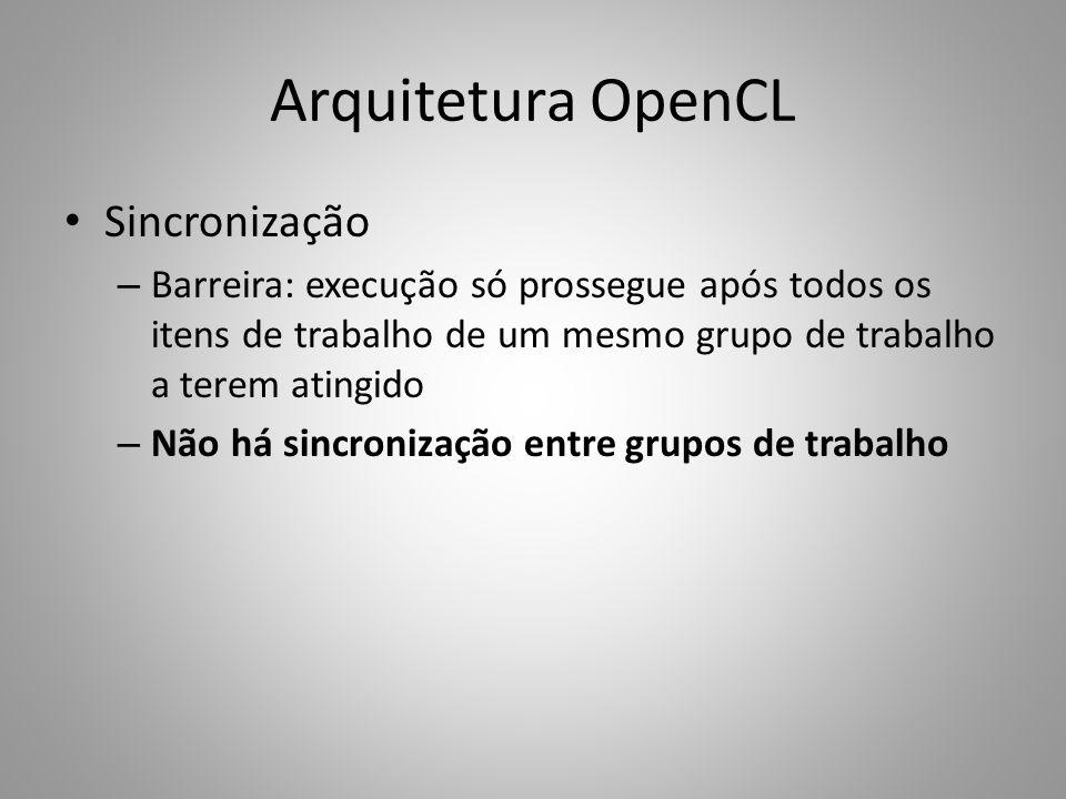 Arquitetura OpenCL Sincronização