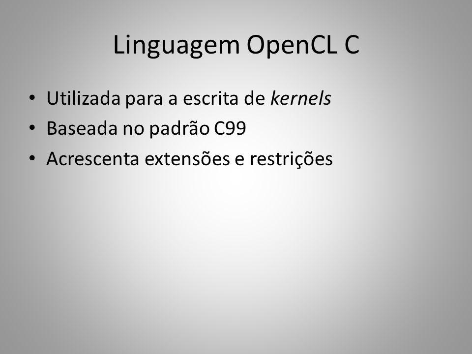 Linguagem OpenCL C Utilizada para a escrita de kernels