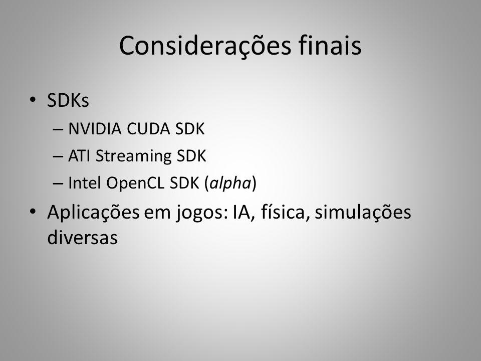 Considerações finais SDKs