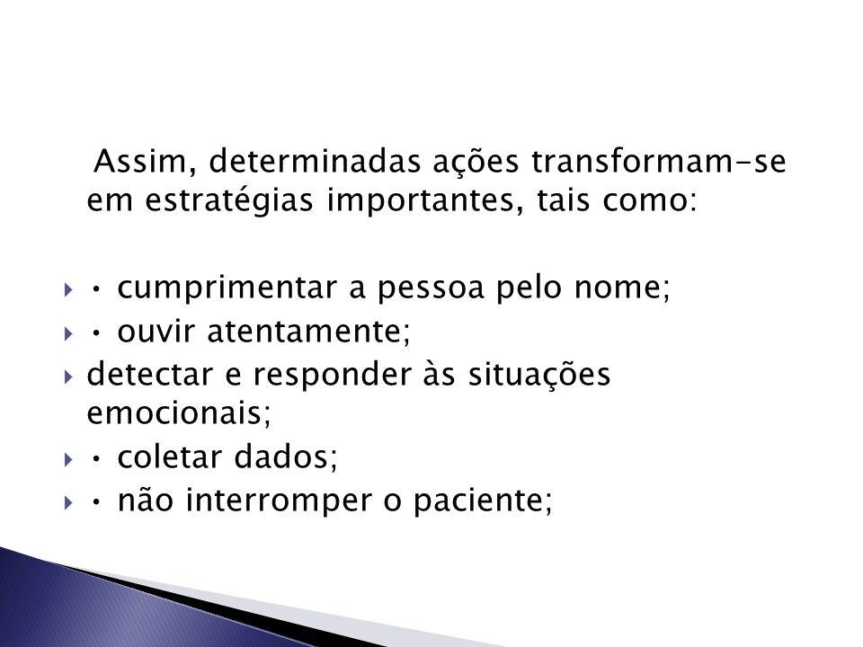 Assim, determinadas ações transformam-se em estratégias importantes, tais como: