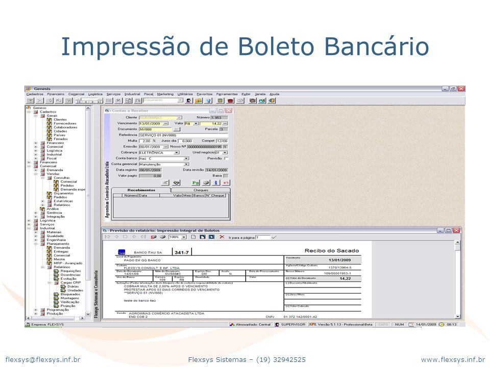 Impressão de Boleto Bancário