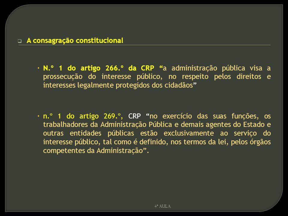 A consagração constitucional