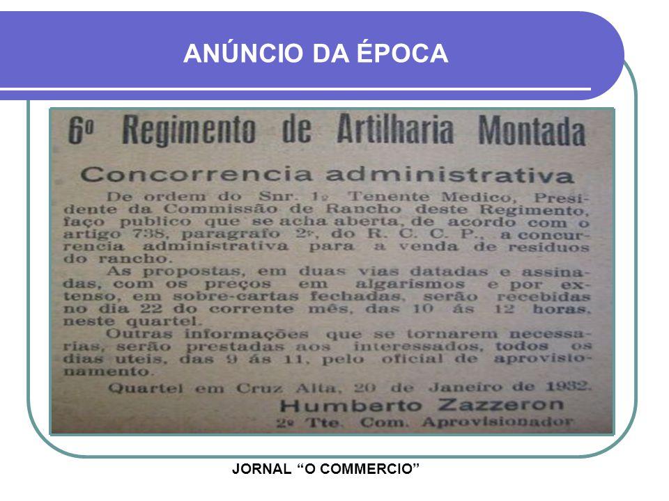 ANÚNCIO DA ÉPOCA JORNAL O COMMERCIO