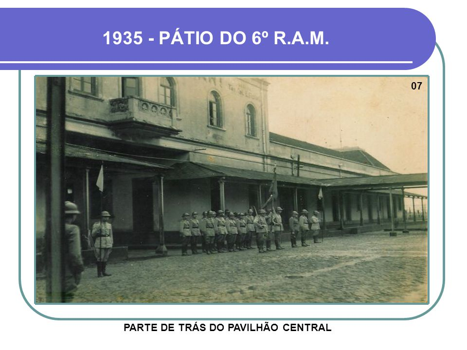 PARTE DE TRÁS DO PAVILHÃO CENTRAL