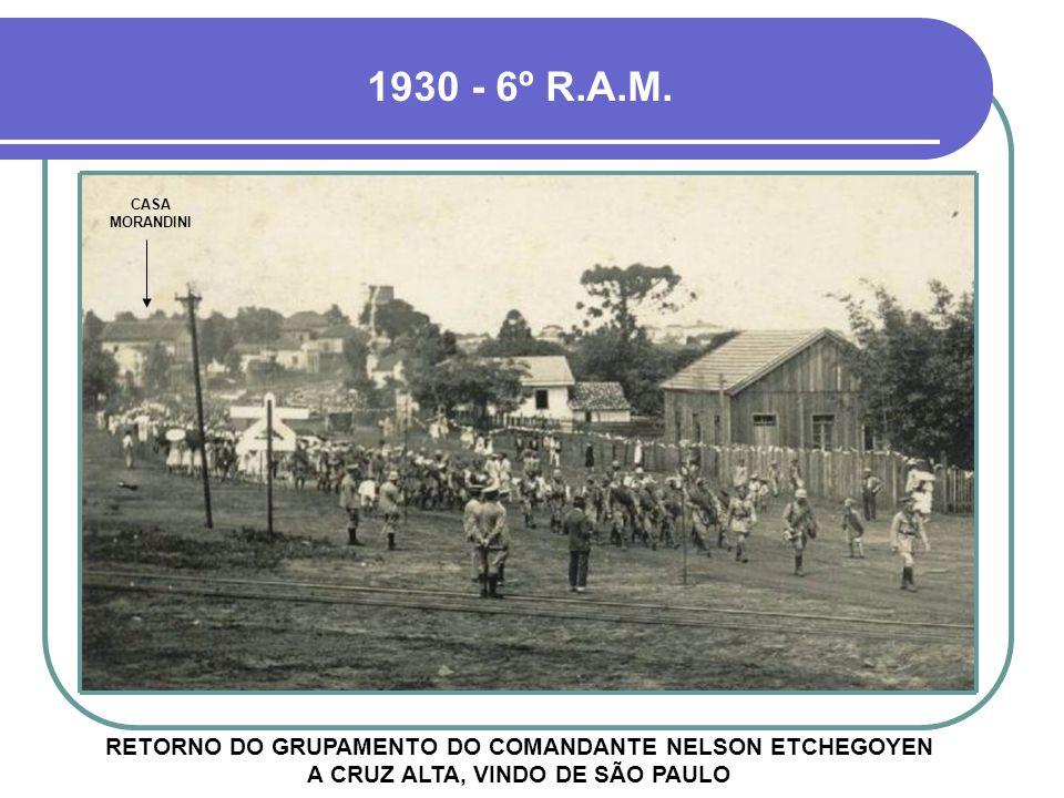 1930 - 6º R.A.M. CASA MORANDINI.