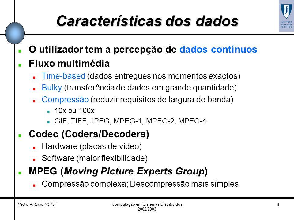 Características dos dados