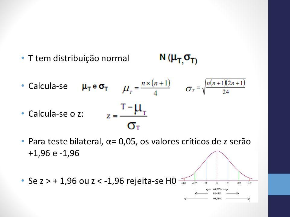 T tem distribuição normal