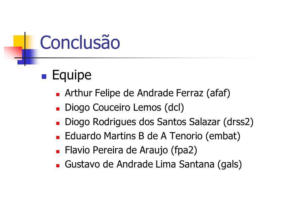 Conclusão Equipe Arthur Felipe de Andrade Ferraz (afaf)
