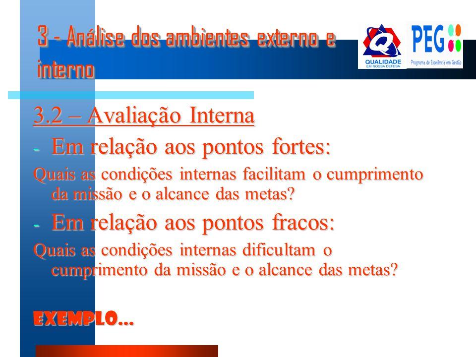 3 - Análise dos ambientes externo e interno