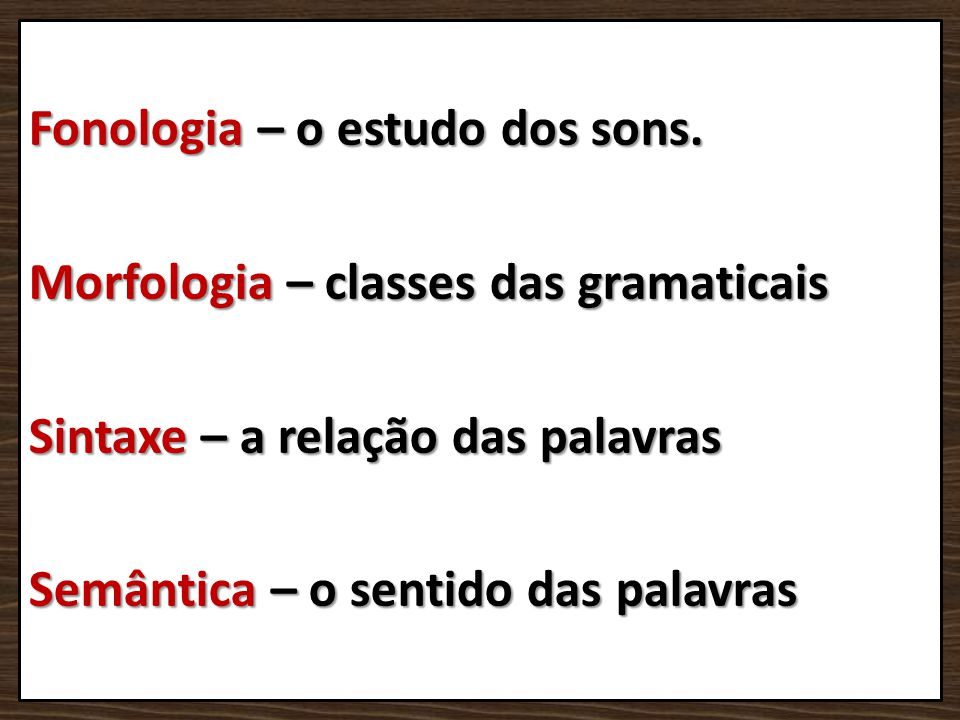 Fonologia – o estudo dos sons