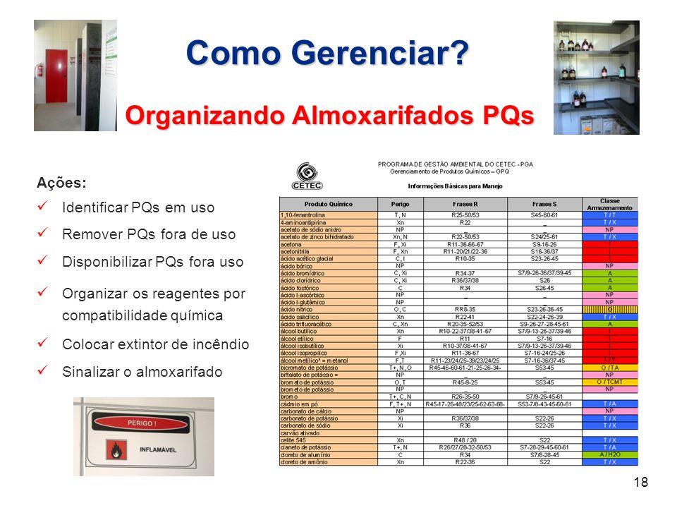 Organizando Almoxarifados PQs