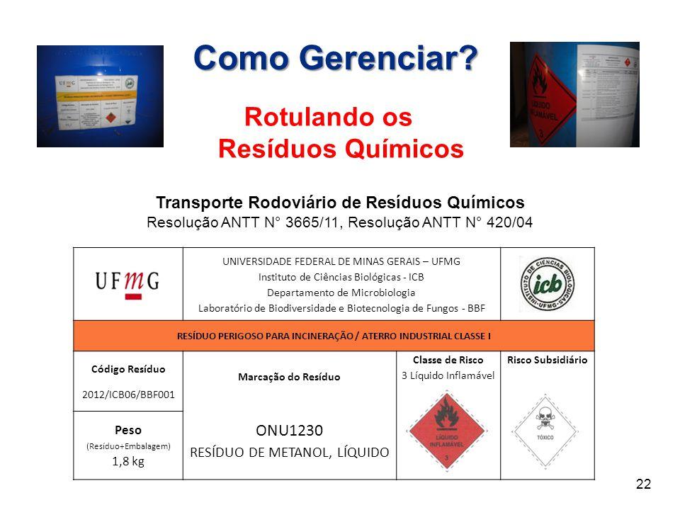 Como Gerenciar Rotulando os Resíduos Químicos ONU1230