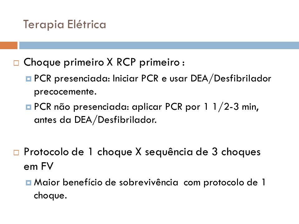 Terapia Elétrica Choque primeiro X RCP primeiro :
