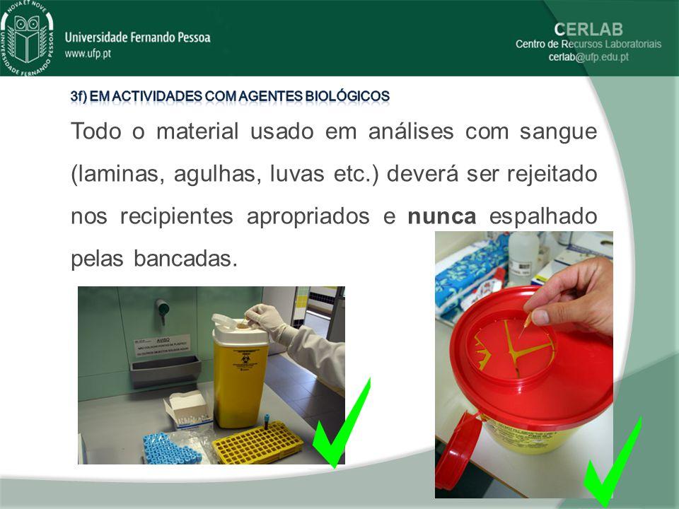 3f) em actividades com agentes biológicos