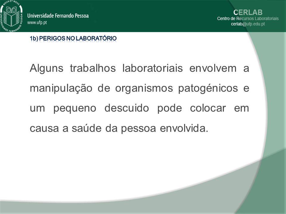 1b) Perigos no laboratório