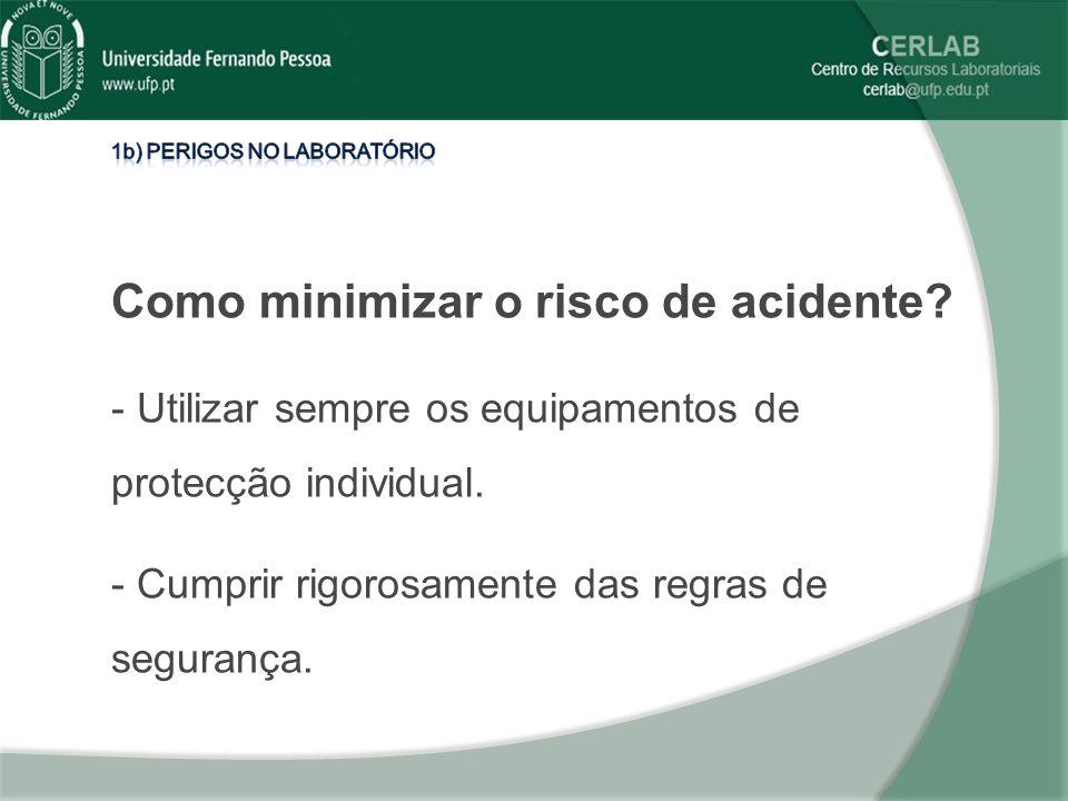 Como minimizar o risco de acidente