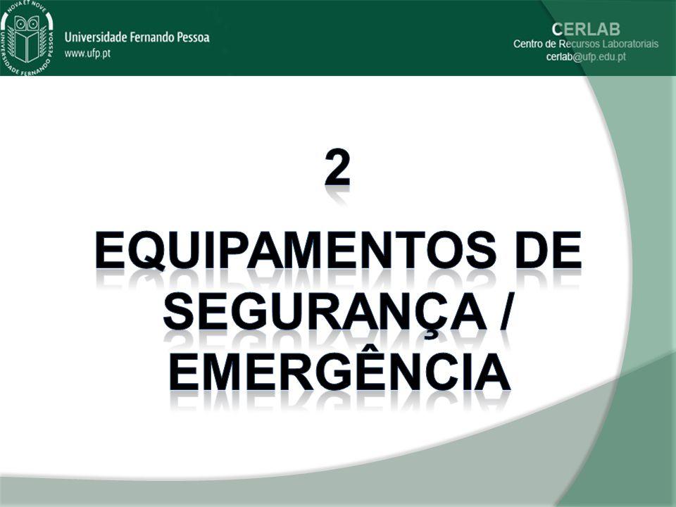 Equipamentos de segurança / emergência