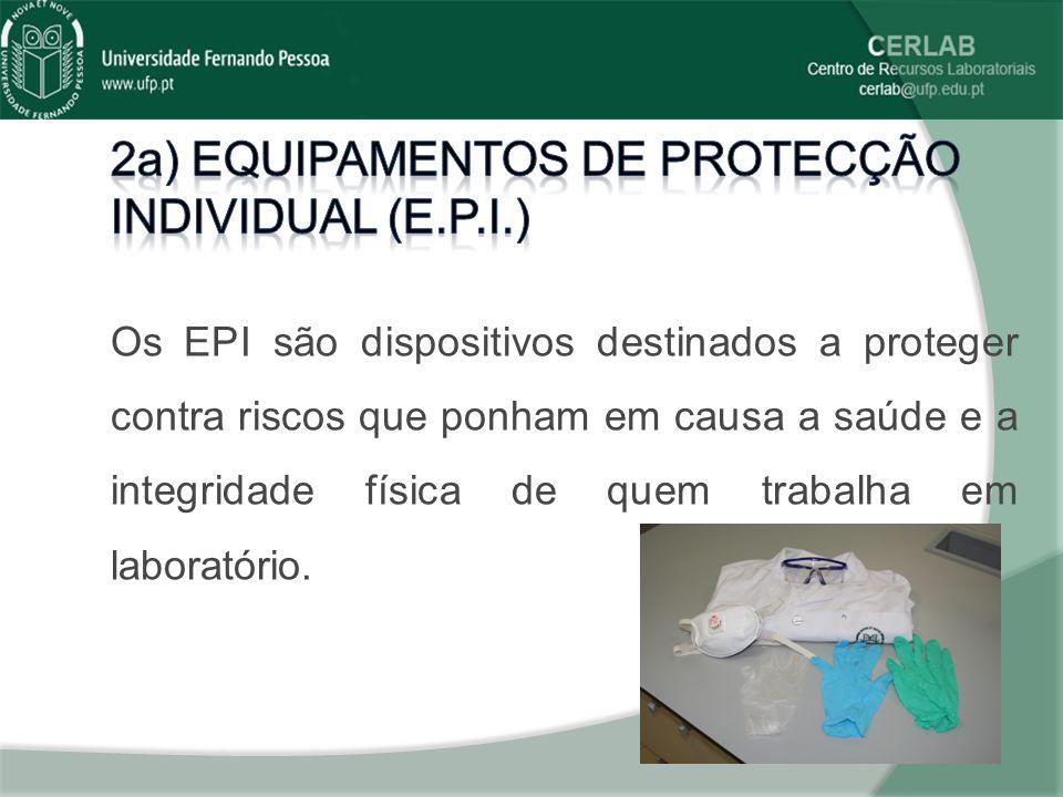 2a) equipamentos de protecção individual (e.p.i.)