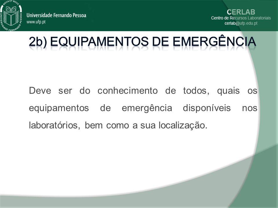 2b) equipamentos de emergência