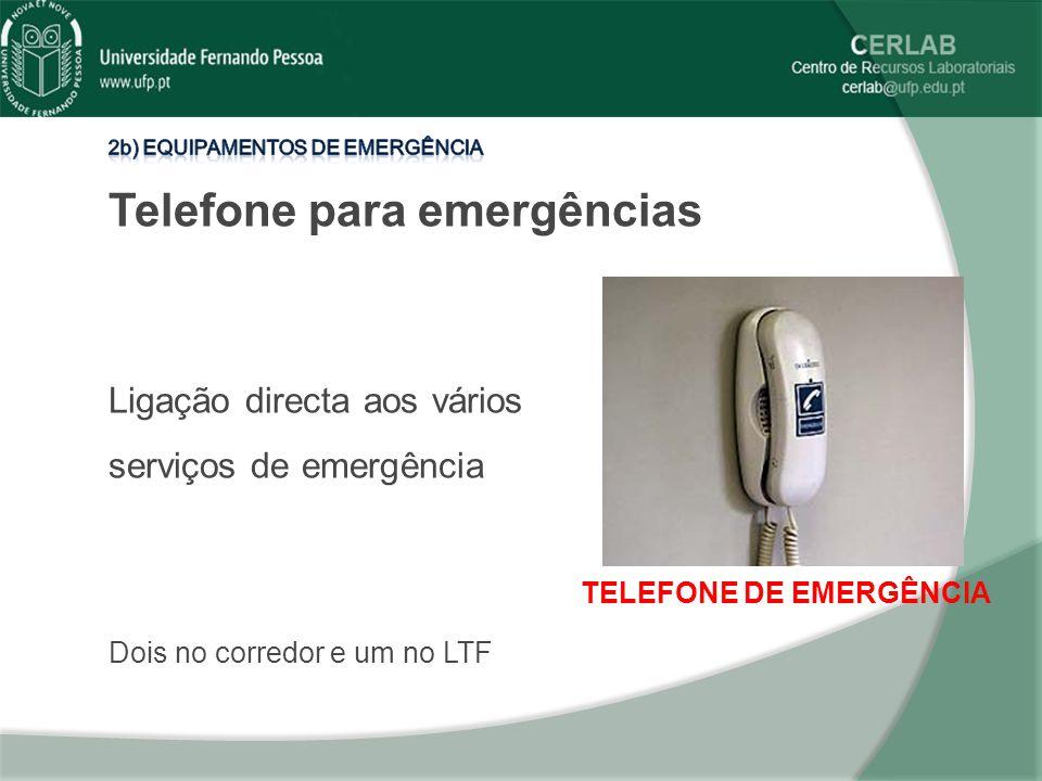 Telefone para emergências