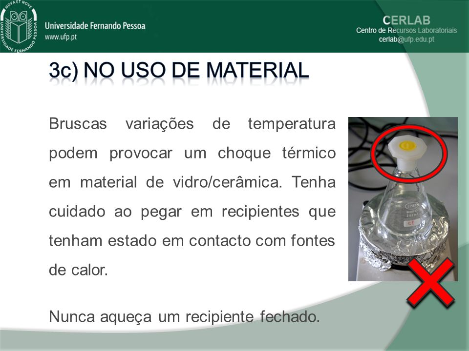 3c) No uso de material