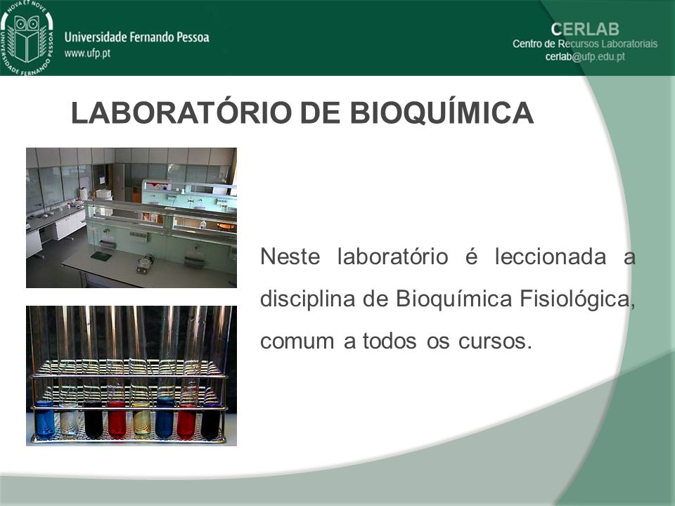 LABORATÓRIO DE BIOQUÍMICA