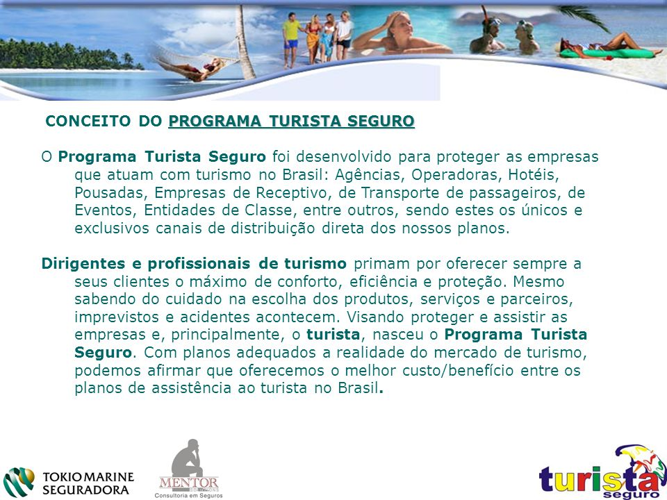 CONCEITO DO PROGRAMA TURISTA SEGURO