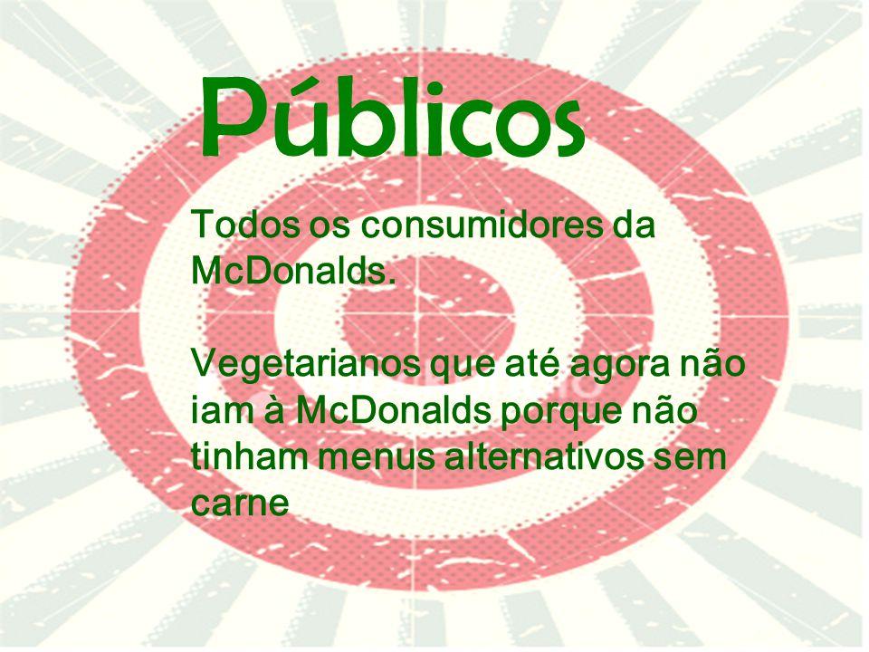Públicos Todos os consumidores da McDonalds.