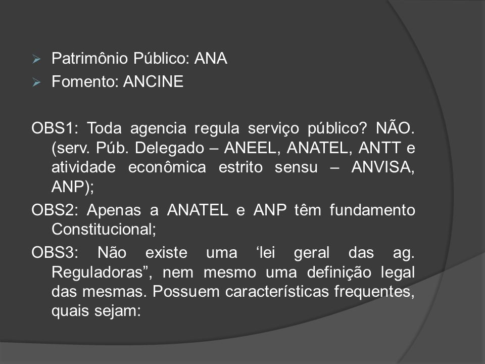 Patrimônio Público: ANA