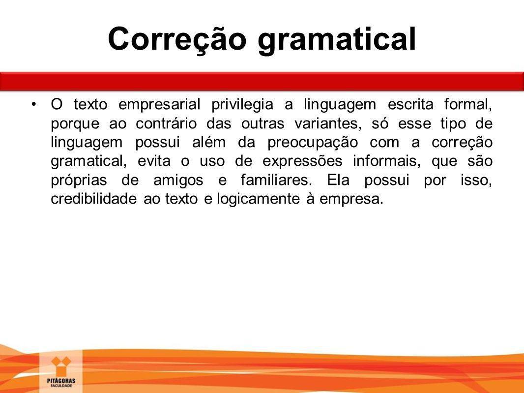 Correção gramatical