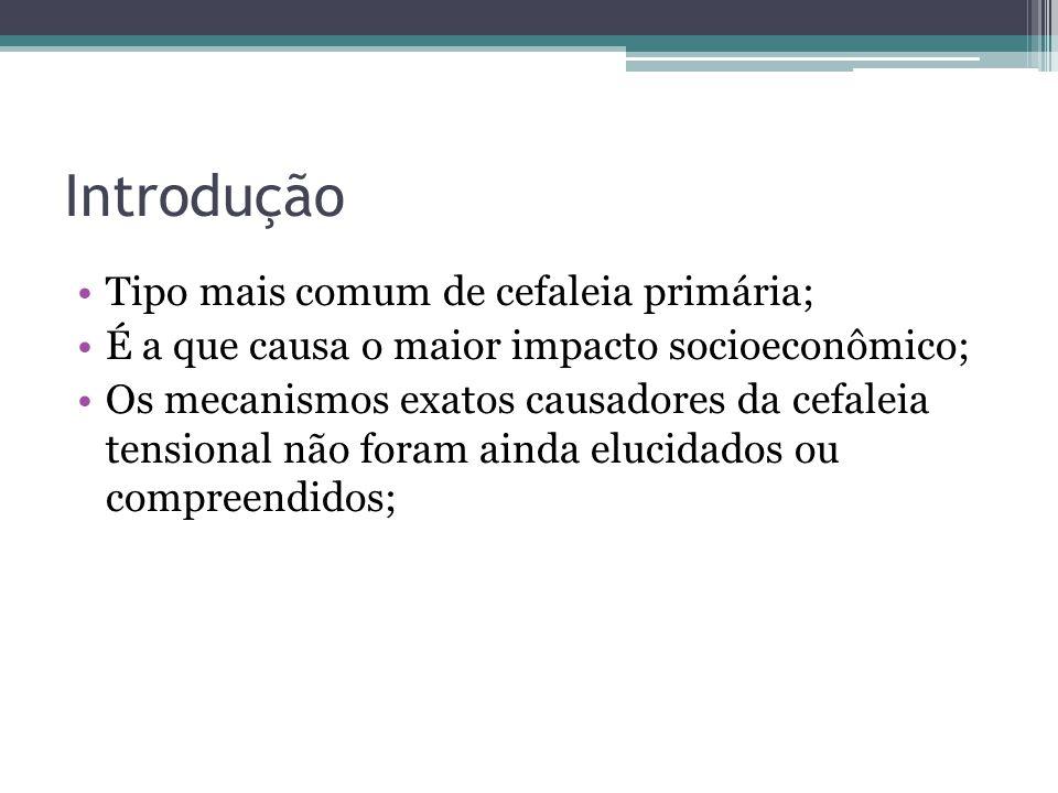 Introdução Tipo mais comum de cefaleia primária;
