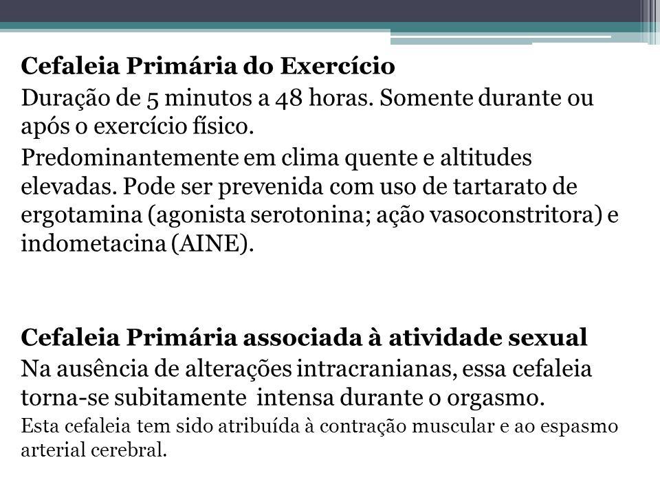 Cefaleia Primária do Exercício