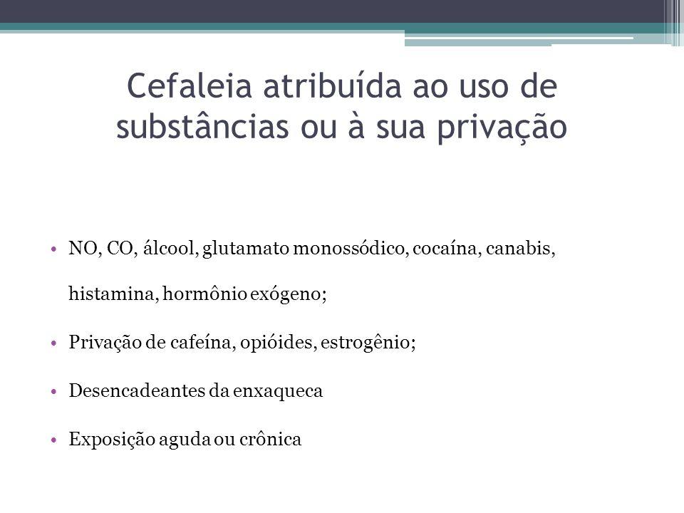 Cefaleia atribuída ao uso de substâncias ou à sua privação
