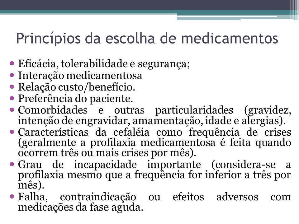 Princípios da escolha de medicamentos